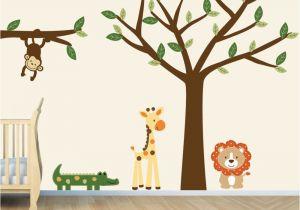 Baby Jungle Safari Wall Mural Pin On Nursery