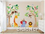 Baby Jungle Safari Wall Mural Pin Von Claudia Oswald Auf Baum Wand In 2019