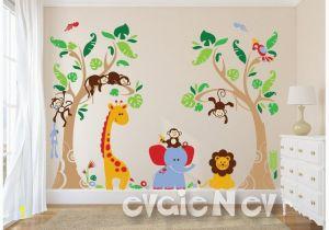Baby Jungle Safari Wall Mural Pin Von Claudia Oswald Auf Baum Wand In 2019