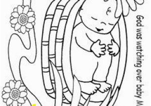Baby Moses Coloring Page Printable 184 Best Moses Crafts Images On Pinterest