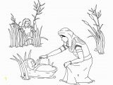 Baby Moses Coloring Page Printable Free Moses Coloring Pages Castrophotos
