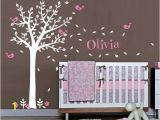 Baby Name Wall Murals Baby Name Wall Decal Nursery Tree Wall Decal Nursery