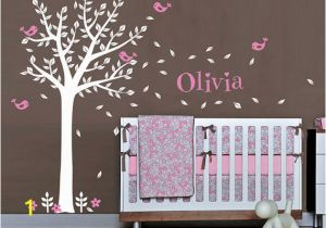 Baby Name Wall Murals Baby Name Wall Decal Nursery Tree Wall Decal Nursery