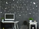 Baby Name Wall Murals Space Baby Name Wall Decal This Mama Hustle In 2019