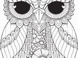 Baby Owl Coloring Page Kurby Owl An Intricate and Super Duper Detailed