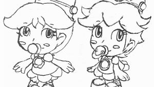 Baby Peach and Baby Daisy Coloring Pages Baby Peach and Baby Daisy and Baby Rosalina Free