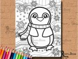 Baby Penguin Coloring Pages Instant Download Baby Penguin Coloring Coloring Page Print Doodle Art Printable