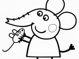 Baby Pig Coloring Pages Emily Elephant In Peppa Pig Coloring Page