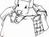 Baby Pig Coloring Pages Free Images Of Pigs to Paint On Wood