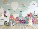 Baby Wall Mural Ideas Kids Wallpaper Historical Places Wall Mural Hot Air Balloon