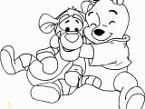 Baby Winnie the Pooh and Tigger Coloring Pages Baby Tigger and Winnie the Pooh Baby Coloring Page