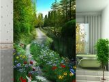 Back to the Wall Murals Green Morning Glory Flower Mural Wallpaper Fabric Painting Hd Fresh Pattern Back Drop Living Room Tv sofa Bedroom Study Room Wall Decor Good Wallpaper