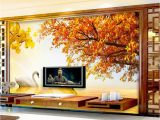 Back to the Wall Murals Wall Background Hd Custom Retail Gold Swan Lake sofa