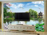 Backlit Wall Murals Wall Mural Green Garden Chinese Wallpaper Murals Landscape