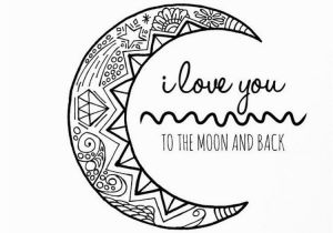 Bad Case Of Stripes Coloring Page I Love You to the Moon and Back Hand Drawn Colouring Page