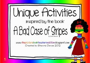 Bad Case Of Stripes Coloring Page the Picture Book Teacher S Edition A Bad Case Of Stripes by David