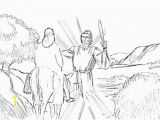 Balaam and His Donkey Coloring Page Moses Bible Study for Kids