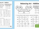 Balance Scale Coloring Page Ks1 Balancing Act Addition Worksheet Activity Sheet