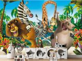 Bambi Wall Mural Uk Madagascar Wall Mural Madagascar Wallpaper Jungle Wallpaper Safari Animals Wall Paper Tropic forest Wallpaper Nursery Décor Wall Art