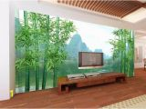 Bamboo forest Wall Mural 3d Room Wallpaper Custom Non Woven Mural Huge Hd Bamboo forest Guilin Landscape Painting Living Room Wallpaper for Walls 3 D Wallpapers