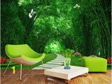 Bamboo forest Wall Mural Wallpaper Custom Wallpaper Bamboo forest Park Shade Road 3d Landscape