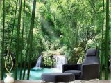 Bamboo forest Wall Mural Wallpaper Muurposters Wall Mural Wallpaper Fleece Green forest