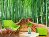 Bamboo Mural Walls 3d Wallpaper Chinese Style Green Bamboo Path Nature Scenery