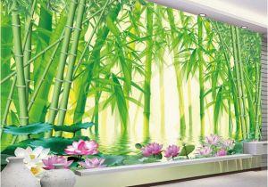 Bamboo Mural Walls 3d Wallpaper Modern Classic Green Bamboo forest Scenery Wall