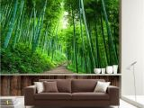 Bamboo Mural Walls Beibehang Custom Wallpaper 3d Naked Bamboo Wood Board Road