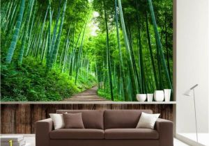 Bamboo Mural Walls Beibehang Custom Wallpaper 3d Naked Bamboo Wood Board Road