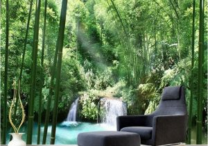 Bamboo Mural Walls Custom 3d Wall Murals Wallpaper Bamboo forest Natural Landscape Art