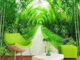 Bamboo Mural Walls Custom Any Size Mural Wallpaper 3d Stereo Fresh Green Bamboo forest