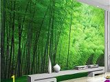 Bamboo Wall Mural Wallpaper Sykdybz Nature Green Bamboo for Living Room Wall Art Decor