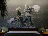 Banksy Wall Mural Wallpaper Betlehem Walled F Hotel Baumeister