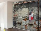 Banksy Wall Mural Wallpaper Swing Set Street Art Wall Mural Decal In 2019