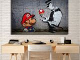 Banksy Wall Murals Banksy Super Mario Wallpaper Hd Wall Art Canvas Posters Prints
