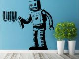 Banksy Wall Murals Zn Banksy Vinyl Wall Decal Robot Graffiti Wall Sticker Art Home