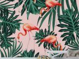 Bar Scene Wall Murals Summer Flamingo Jungle Vibes 1 Wall Mural Wallpaper