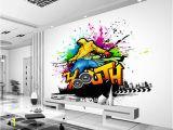 Bar Scene Wall Murals Us $14 95 Off Custom Papel De Parede 3 D Music and Dance Graffiti Murals for Bar Ktv Background Wall Waterproof Wallpaper In Wallpapers From Home