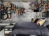 Bar themed Wall Murals Europe Stereoscopic 3d Graffiti Letters Retro Street Rock Wall Wallpaper Mural Restaurant Bar Ktv Background Wallpaper Landscape High Resolution