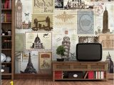 Bar themed Wall Murals Fashion Vintage 3d Wallpaper Mural European Style Retro