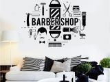 Barber Shop Wall Murals Barbershop Words Wall Decals Living Room Fashion