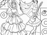 Barbie and the Popstar Coloring Pages Barbie Princess Coloring Pages