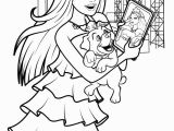 Barbie and the Popstar Coloring Pages Keira Chats On Her Tablet Coloring Page More Barbie the