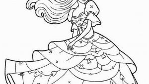 Barbie Princess Coloring Pages to Print Beautiful Barbie Princess Coloring Page Free Printable