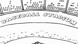 Baseball Field Coloring Page Baseball Field Coloring Pages