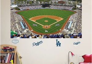 Baseball Field Mural Fathead Los Angeles Dodgers Stadium Mural Wall Decals