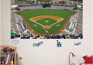 Baseball Field Mural Fathead Los Angeles Dodgers Stadium Mural Wall Decals