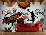 Baseball Murals for Walls Children S Room Wall Papers 3d Sport Wallpaper Vintage Brick