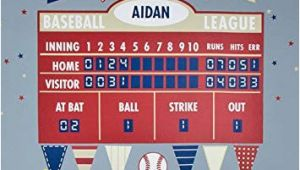Baseball Scoreboard Wall Mural Amazon Baseball athlete Scoreboard Peel & Place Wall